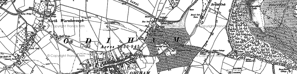 Old map of Odiham in 1894