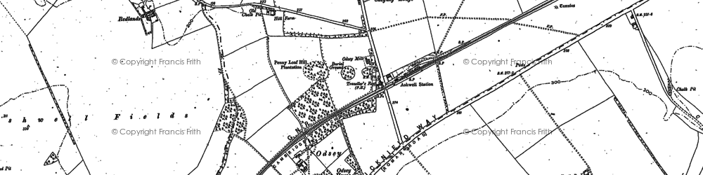 Old map of The Thrift in 1901