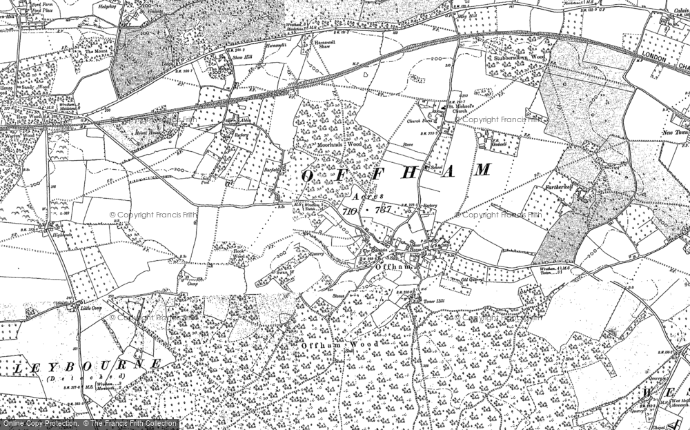 Old Map of Historic Map covering Aldon in 1866
