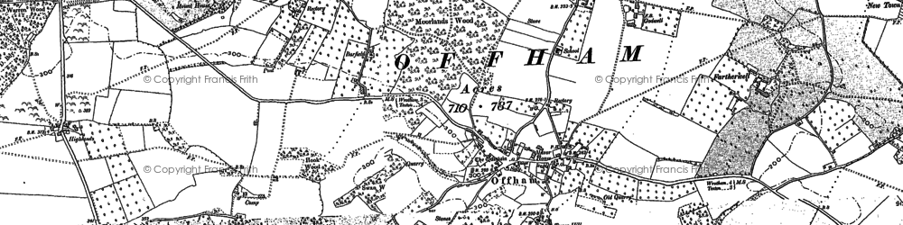 Old map of Aldon in 1866