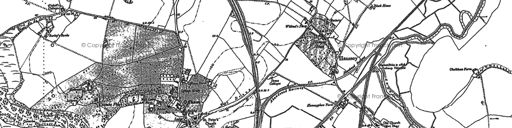 Old map of Offham in 1897