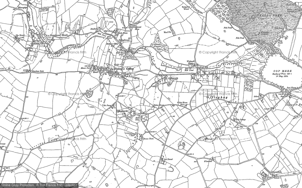 Old Map of Historic Map covering Lea Knowl in 1879