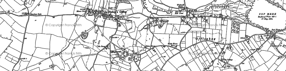 Old map of Lea Knowl in 1879