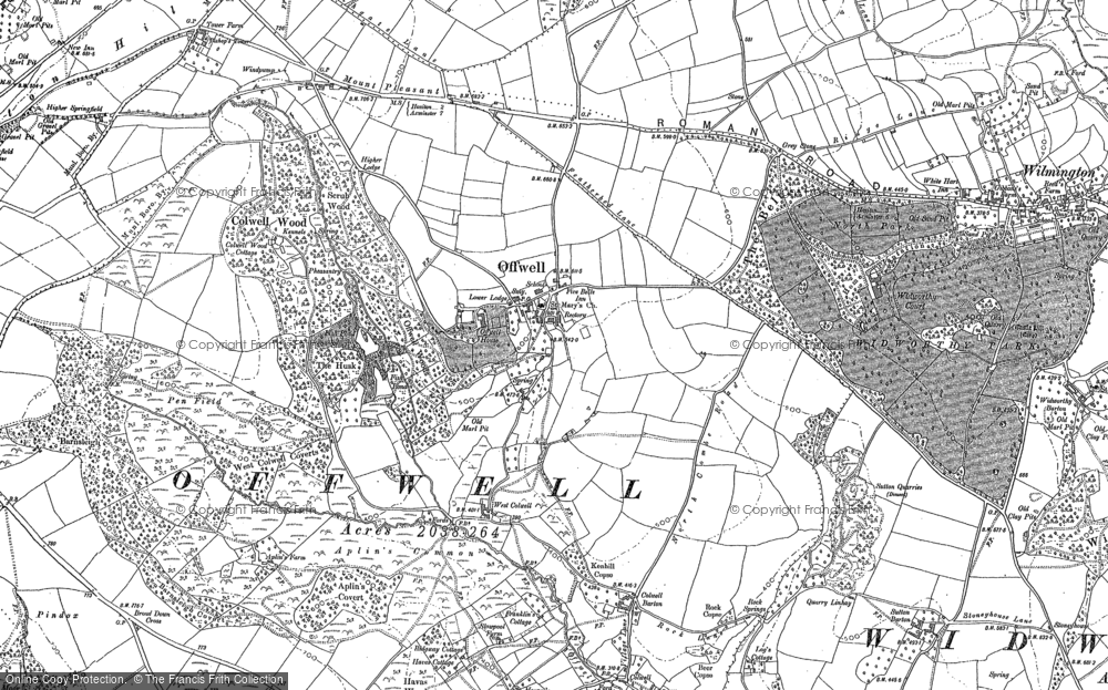 Old Map of Offwell, 1888 in 1888