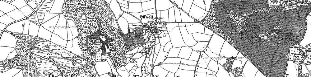 Old map of Offwell in 1888
