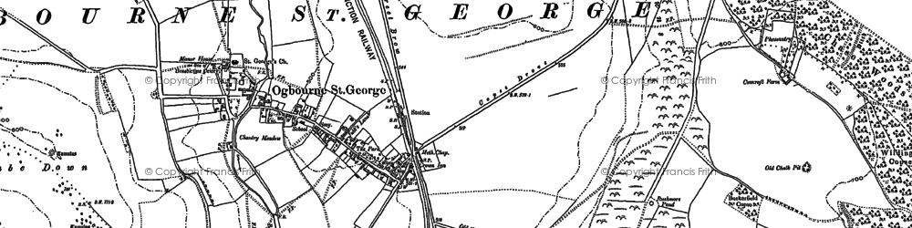 Old map of Aldbourne Chase Ho in 1899
