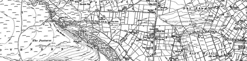 Old map of Ogden in 1891