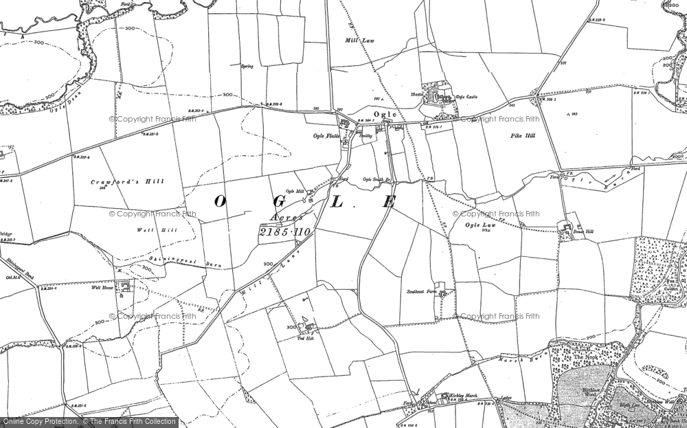 Old Map of Ogle, 1895 - 1896 in 1895