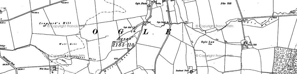 Old map of Todhill in 1895