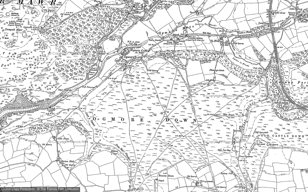 Old Map of Ogmore, 1897 - 1914 in 1897