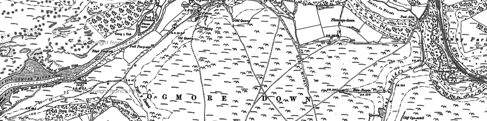 Old map of Candleston Castle in 1897