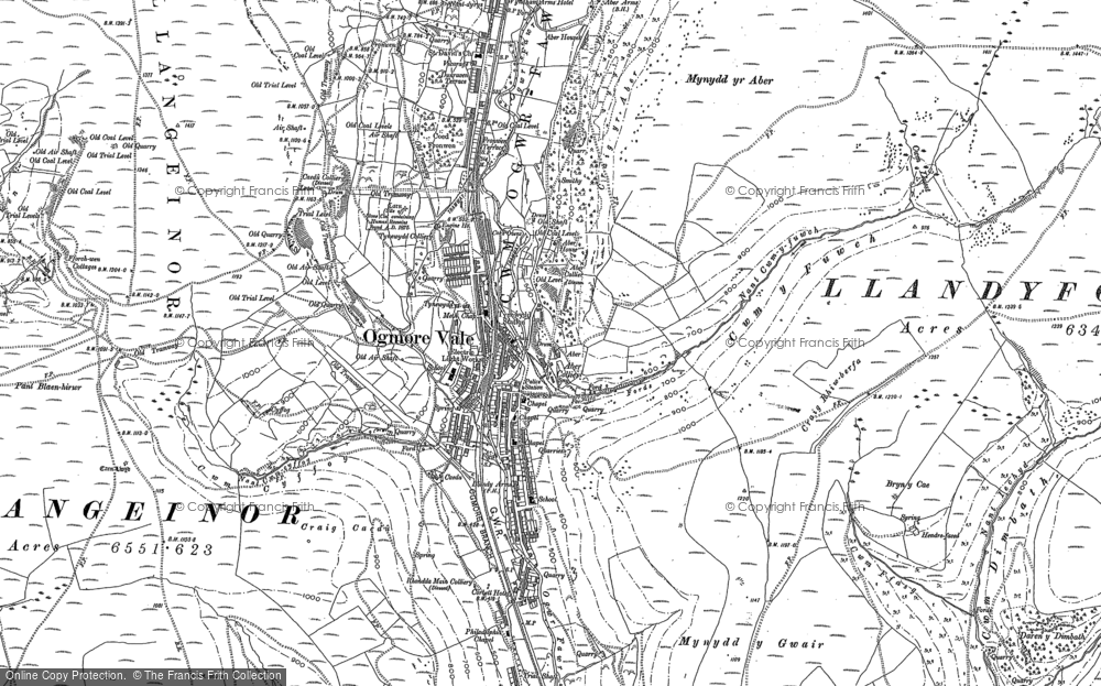 Old Map of Historic Map covering Aber Ho in 1897