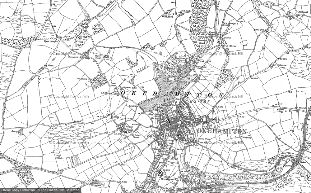 Old Map of Historic Map covering Woodclose in 1884