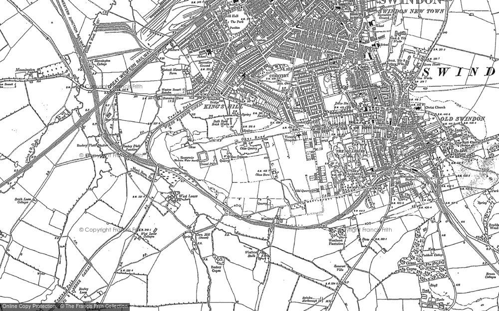 Old Map of Historic Map covering Westleaze in 1899