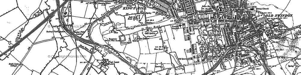 Old map of Westleaze in 1899