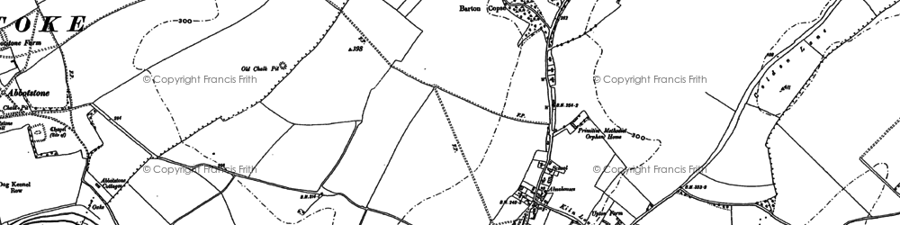 Old map of Abbotstone Down in 1894