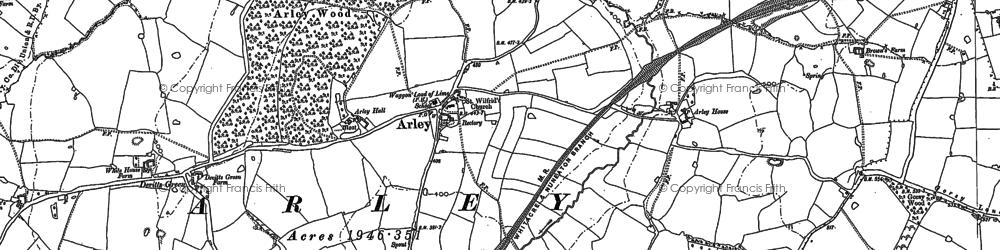 Old map of Ballard's Green in 1887