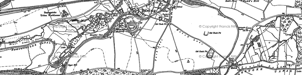 Old map of Old Basing in 1894