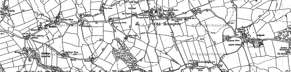 Old map of Old Brampton in 1876