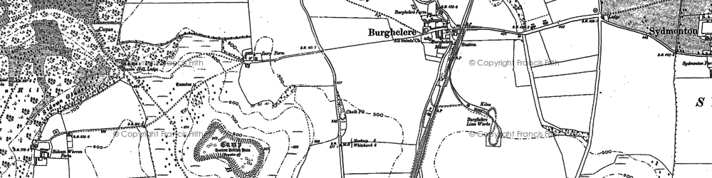 Old map of Old Burghclere in 1894