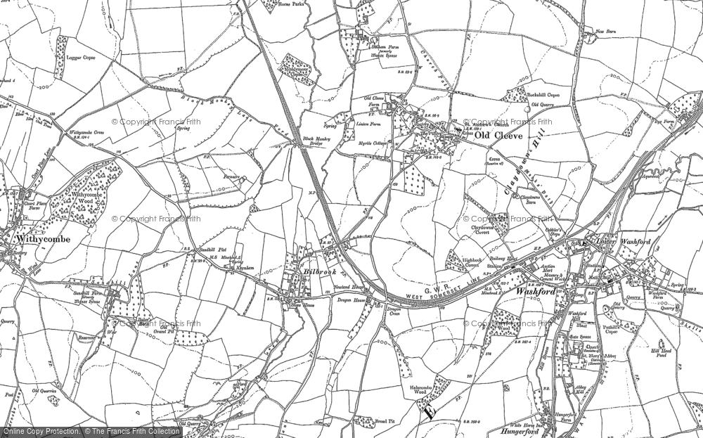 Old Map of Historic Map covering Linton in 1887