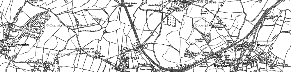 Old map of Old Cleeve in 1887