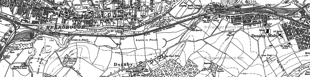 Old map of Windhill in 1890