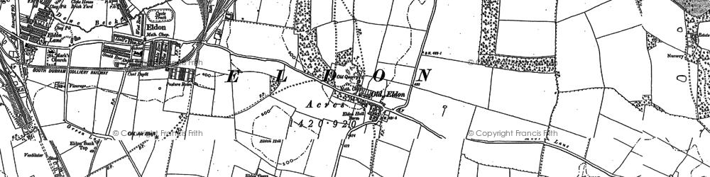 Old map of Windlestone Grange in 1896