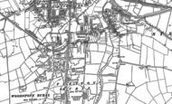 Old Map of Old Fletton, 1887