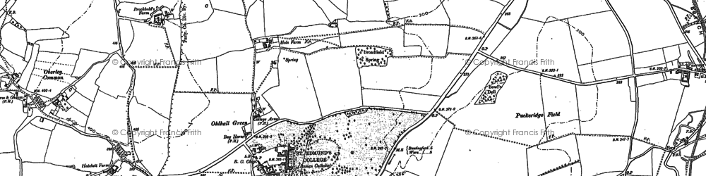 Old map of Old Hall Green in 1895