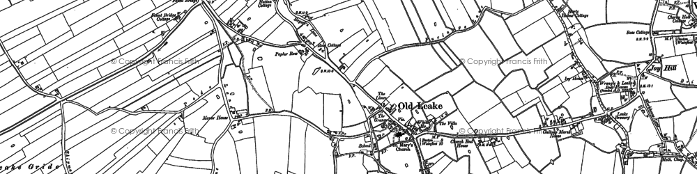 Old map of Leake Fold Hill in 1887