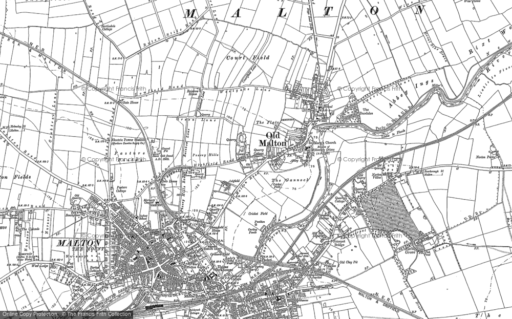 Old Map of Historic Map covering Acomb Ho in 1889