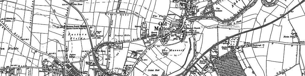 Old map of Acomb Ho in 1889