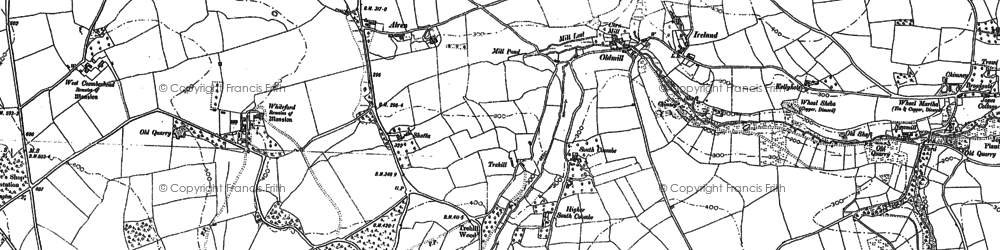 Old map of Old Mill in 1905