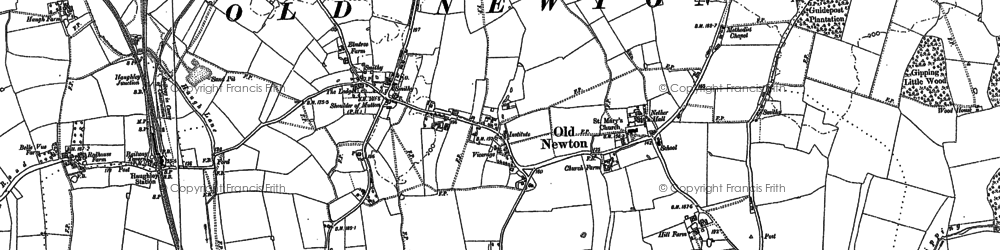 Old map of White Hall in 1884