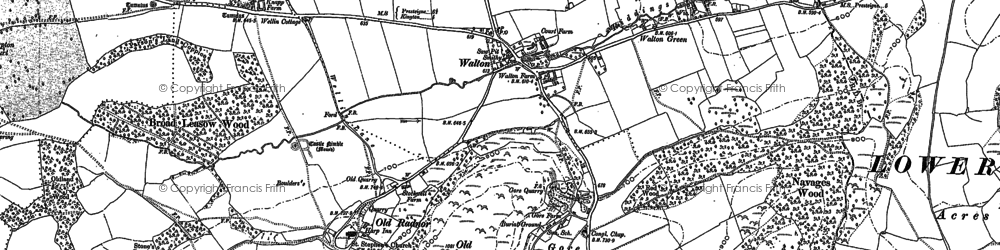 Old map of Old Radnor in 1887