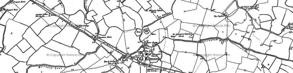Old map of Wheelsgate in 1906