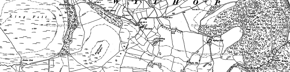 Old map of Aiken Beck in 1898