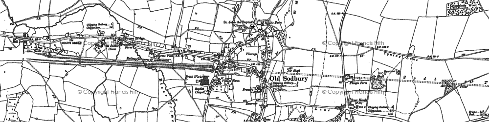 Old map of Colt's Green in 1881