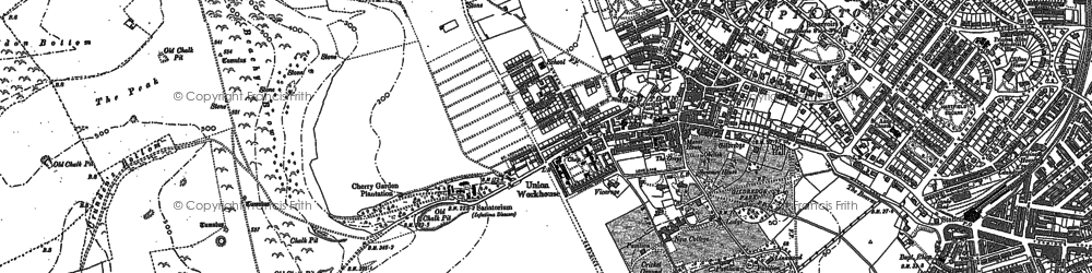 Old map of Wish Tower in 1908