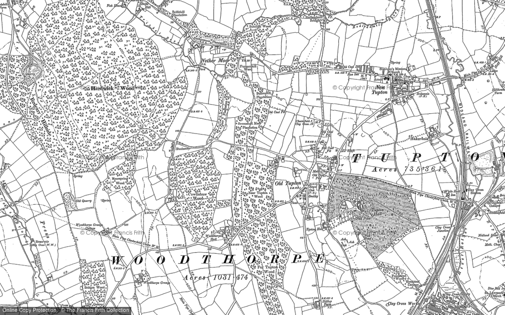 Map of Old Tupton, 1877 - 1879