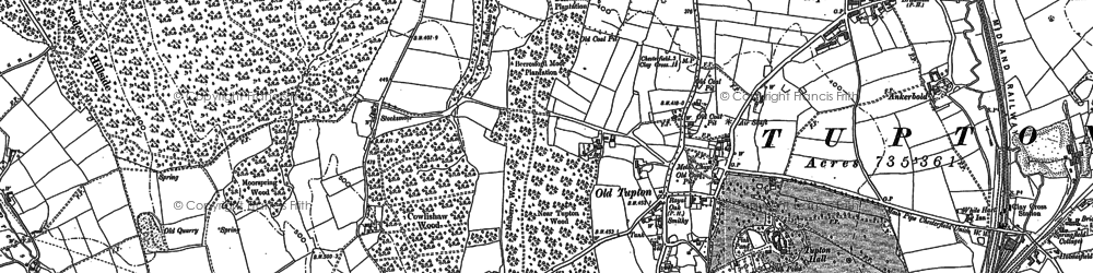 Old map of Old Tupton in 1877