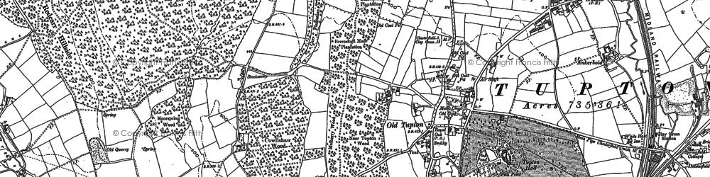 Old map of Woodthorpe Grange in 1877
