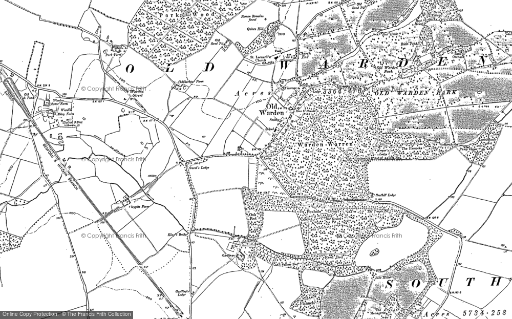 Map of Old Warden, 1882