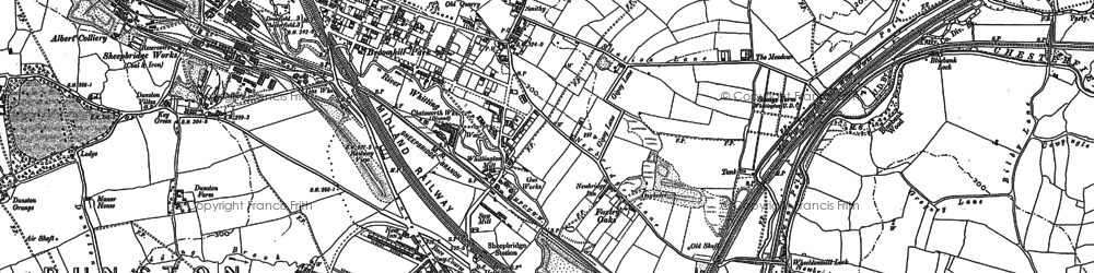 Old map of Old Whittington in 1876