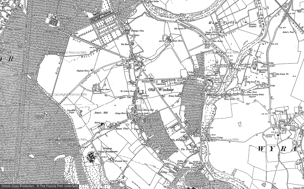Old Map of Historic Map covering Albert Br in 1910