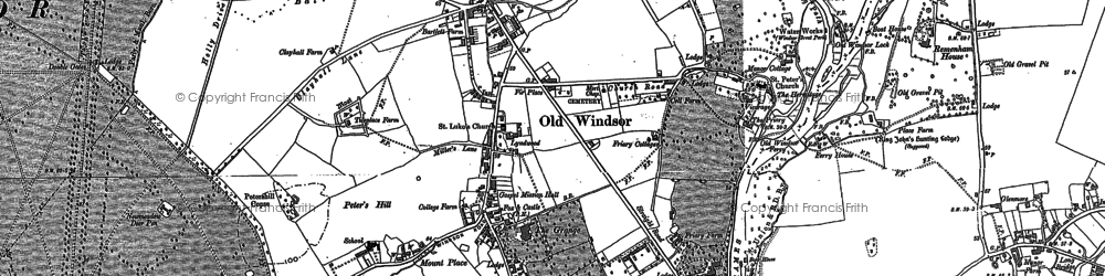 Old map of Albert Br in 1910