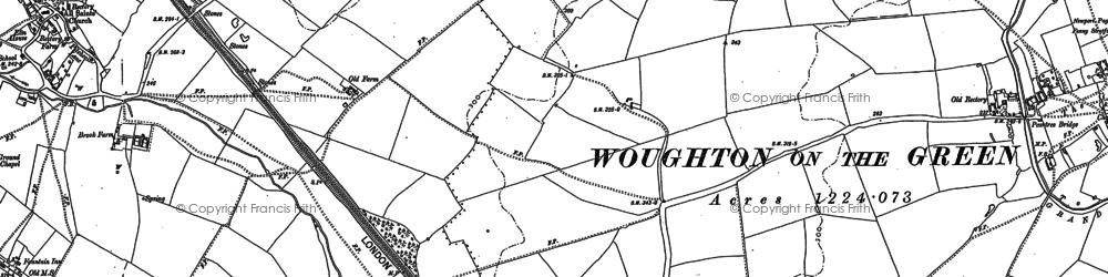 Old map of Milton Keynes in 1898