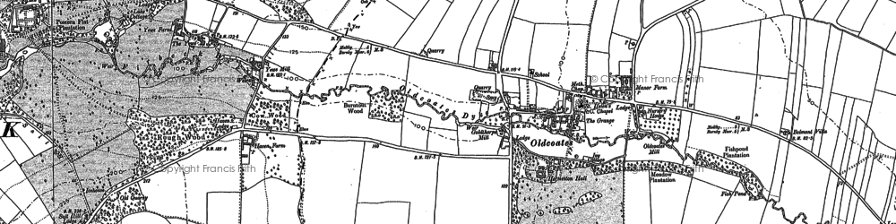 Old map of Whitewater Common in 1897