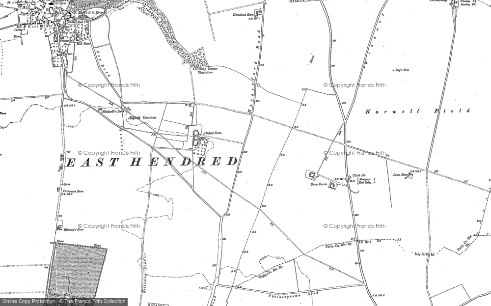 Old Map of Historic Map covering Aldfield Common in 1898